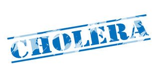 Blauer Stempel der Cholera lizenzfreie abbildung