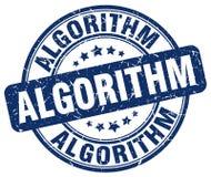blauer Stempel des Algorithmus vektor abbildung