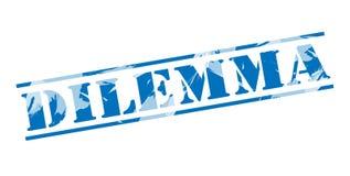 Blauer Stempel des Dilemmas vektor abbildung