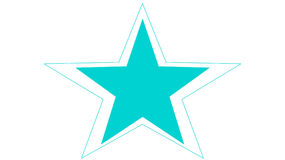 Blauer Stern Lizenzfreie Abbildung