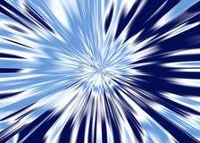 Blauer Stern bursty vom Hintergrund Stockfotografie