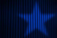 Blauer Stern-Scheinwerfer lizenzfreie abbildung
