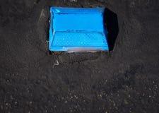 Blauer Straßen-Reflektor Stockfotografie