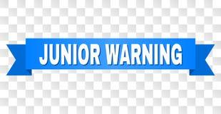 Blauer Streifen mit WARNING Juniortitel lizenzfreie abbildung