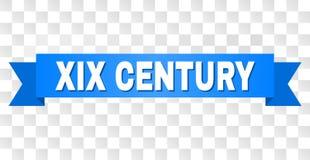 Blauer Streifen mit XIX JAHRHUNDERT Titel lizenzfreie abbildung