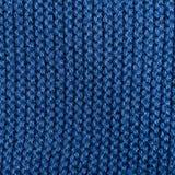 Blauer Strickgarnbeschaffenheitshintergrund stockbild