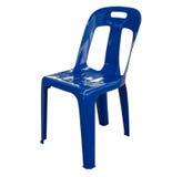 Blauer Stuhl Stockfoto