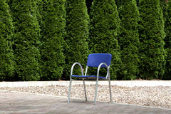 Blauer Stuhl lizenzfreies stockbild