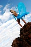 Blauer Tänzer stockfoto