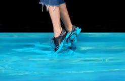 Blauer Tänzer Stockbild