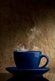 Blauer Tasse Kaffee Stockbilder