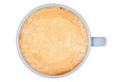 Blauer Tasse Kaffee auf einem weißen Hintergrund Stockfoto