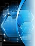 Blauer technischer Hintergrund Stockfoto