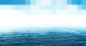 Blauer techno Hintergrund Lizenzfreies Stockfoto