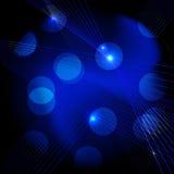 Blauer Technologieauszugshintergrund. Stockfoto