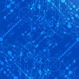 Blauer Technologiehintergrund. Stockbild