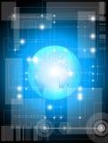 Blauer Technologiehintergrund Lizenzfreies Stockfoto