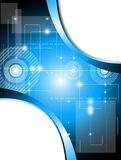 Blauer Technologiehintergrund Lizenzfreie Stockfotos