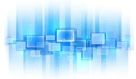 Blauer Technologiehintergrund Stockbild