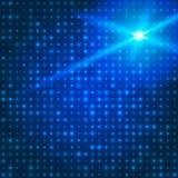 Blauer Technologiehintergrund mit Partikeln Stockfoto