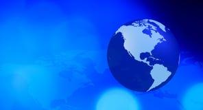 Blauer Technologiehintergrund Nordamerikas stock abbildung