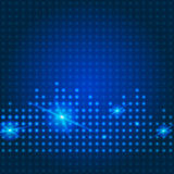 Blauer Technologiestadthintergrund Stockfotografie