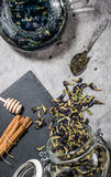 Blauer Tee stockfoto