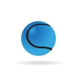 Blauer Tennisball Stockbild