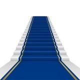 Blauer Teppich Lizenzfreie Stockfotografie