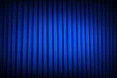 Blauer Theater-Vorhang Stockbild