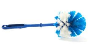 Blauer Toiletten-Pinsel Stockfotos