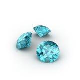 Blauer Topaz stock abbildung