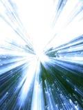 Blauer u. grüner Hintergrund lizenzfreies stockbild