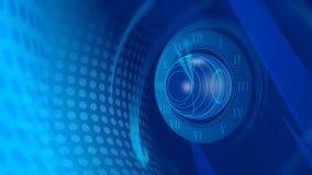 Blauer Uhr-Zusammenfassungs-Hintergrund stock video