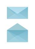 Blauer Umschlag Stockfotografie