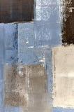 Blauer und beige abstrakter Art Painting Lizenzfreies Stockbild