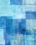 Blauer und beige abstrakter Art Painting Lizenzfreie Stockfotografie
