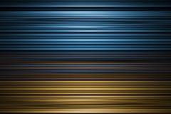Blauer und gelber gestreifter Hintergrund Stockbilder