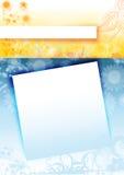 Blauer und gelber Hintergrund Lizenzfreie Stockbilder