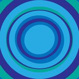 Blauer und grüner abstrakter Hintergrund der konzentrischen Kreise vektor abbildung