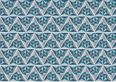 Blauer und grauer geometrischer Musterhintergrund; abstraktes modernes Grafikdesign Stockfotografie