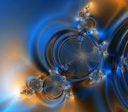 Blauer und orange Fantasie-Auszugs-Hintergrund Stockfoto