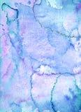 Blauer und purpurroter abstrakter Art Painting Lizenzfreie Stockfotografie