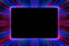 Blauer und roter Sonnendurchbruchrahmen Stockbild