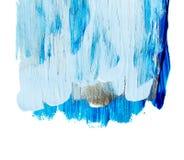 Blauer und silberner blauer Acrylhintergrund Lizenzfreie Stockfotos