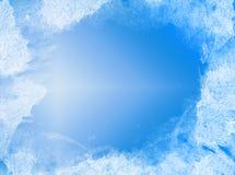 Blauer und weißer abstrakter Hintergrund Lizenzfreie Stockbilder