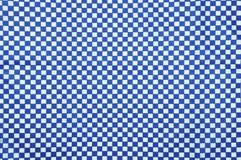 Blauer und weißer Ginghamstoffhintergrund Stockbild