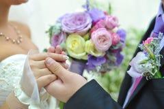 Blauer und weißer Hochzeitsblumenstrauß Lizenzfreies Stockbild