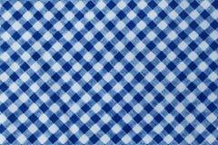 Blauer und weißer Holzfäller Plaid Seamless Pattern Stockfotos