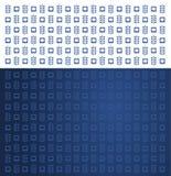 Blauer und weißer Stomatologiezahnarztzahn und netter nahtloser Hintergrund des Blattes Stockfoto